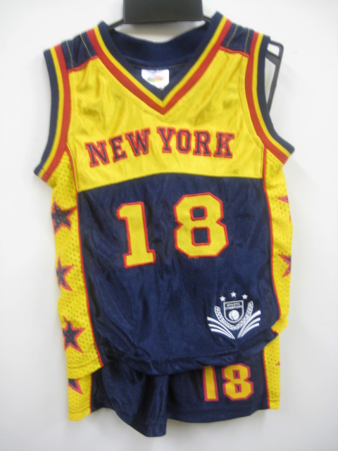 Boys Shiny Short Set New York 18