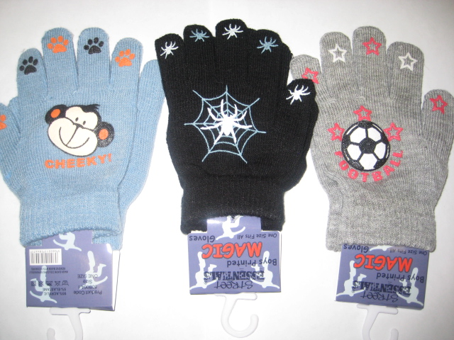 Kids Assorted Design Magic Gloves