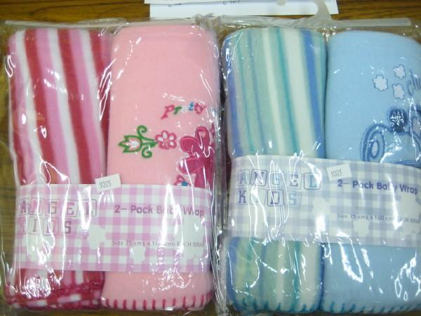 2 Pack Fleece Wrap Assorted Designs