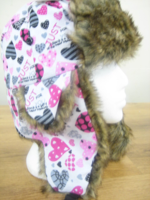 Kids Trapper Hat With Fur