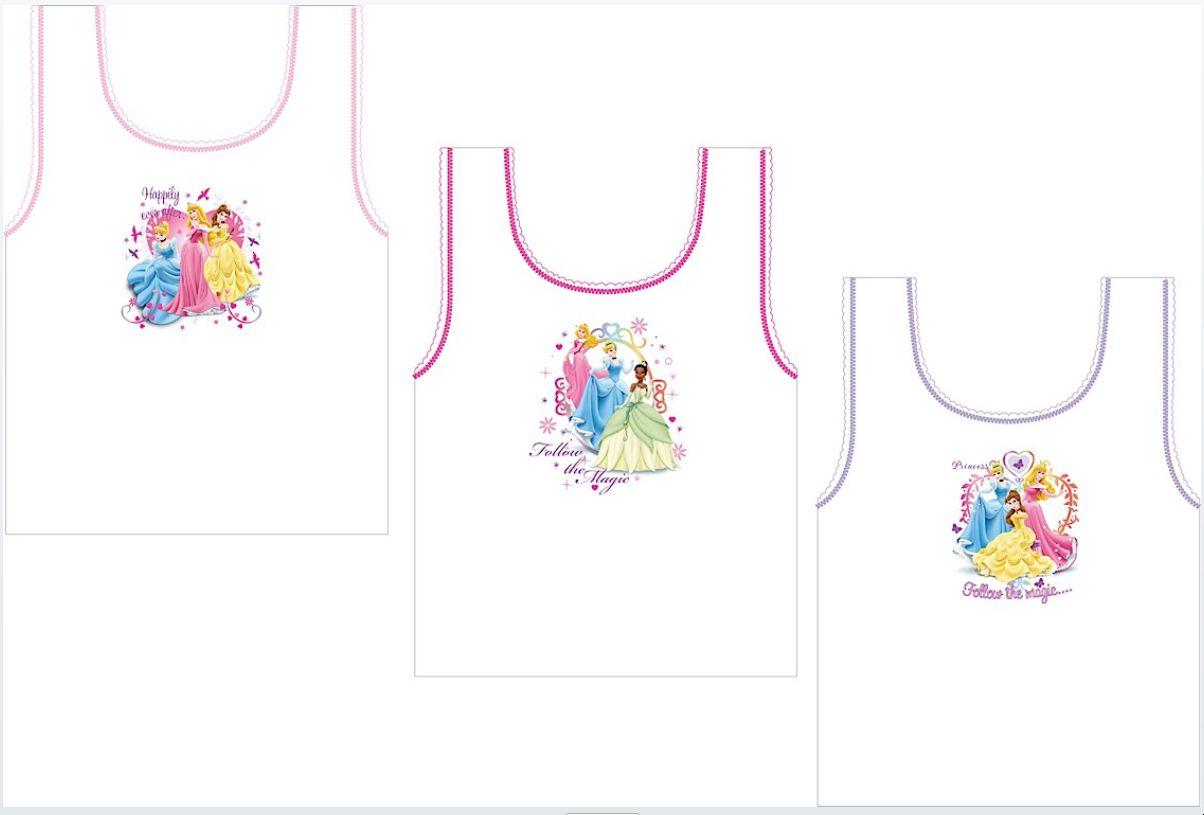Girls Disney Princess 3pack Vest Set