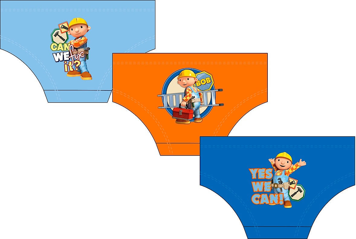 Boys Bob The Builder 3pk Brief Set