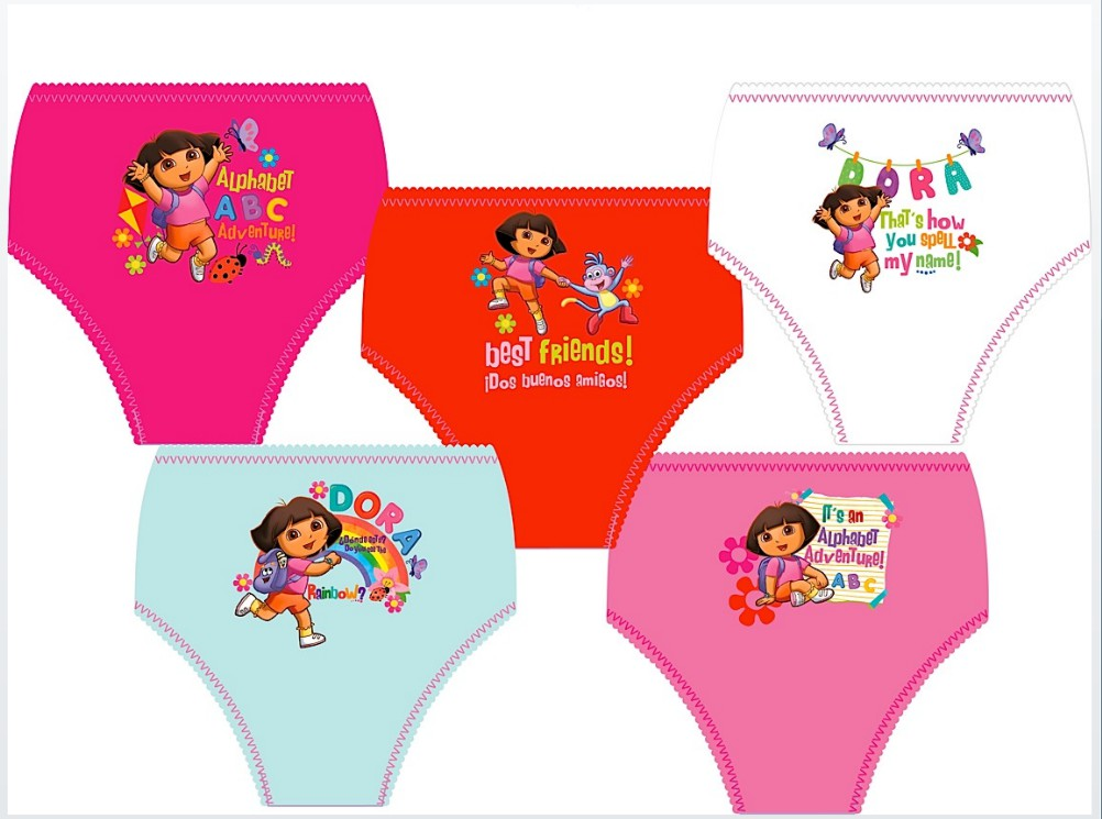 Girls Dora 5pk Briefs