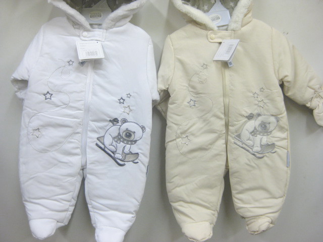 Baby Padded Snowsuit Bear