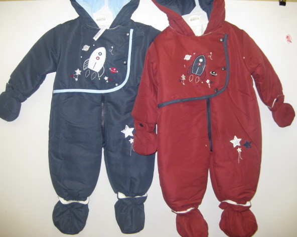 Baby Snowsuit Red Navy