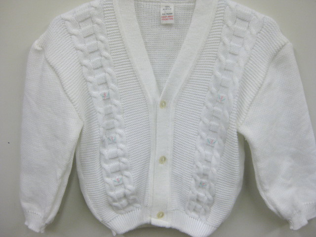 Baby Cardigan With Cable