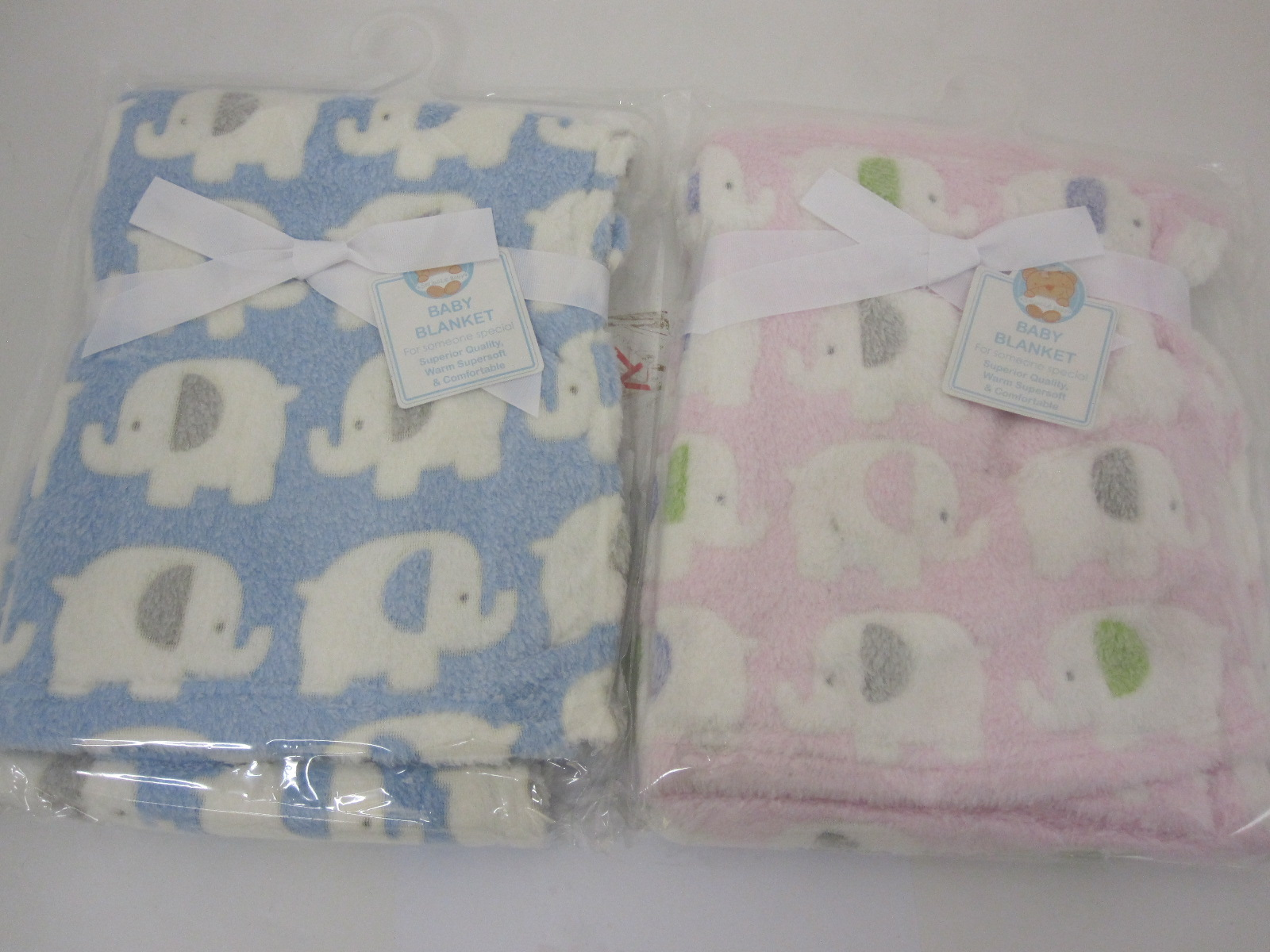Baby Fleece Pram Blanket With Elephant Pattern