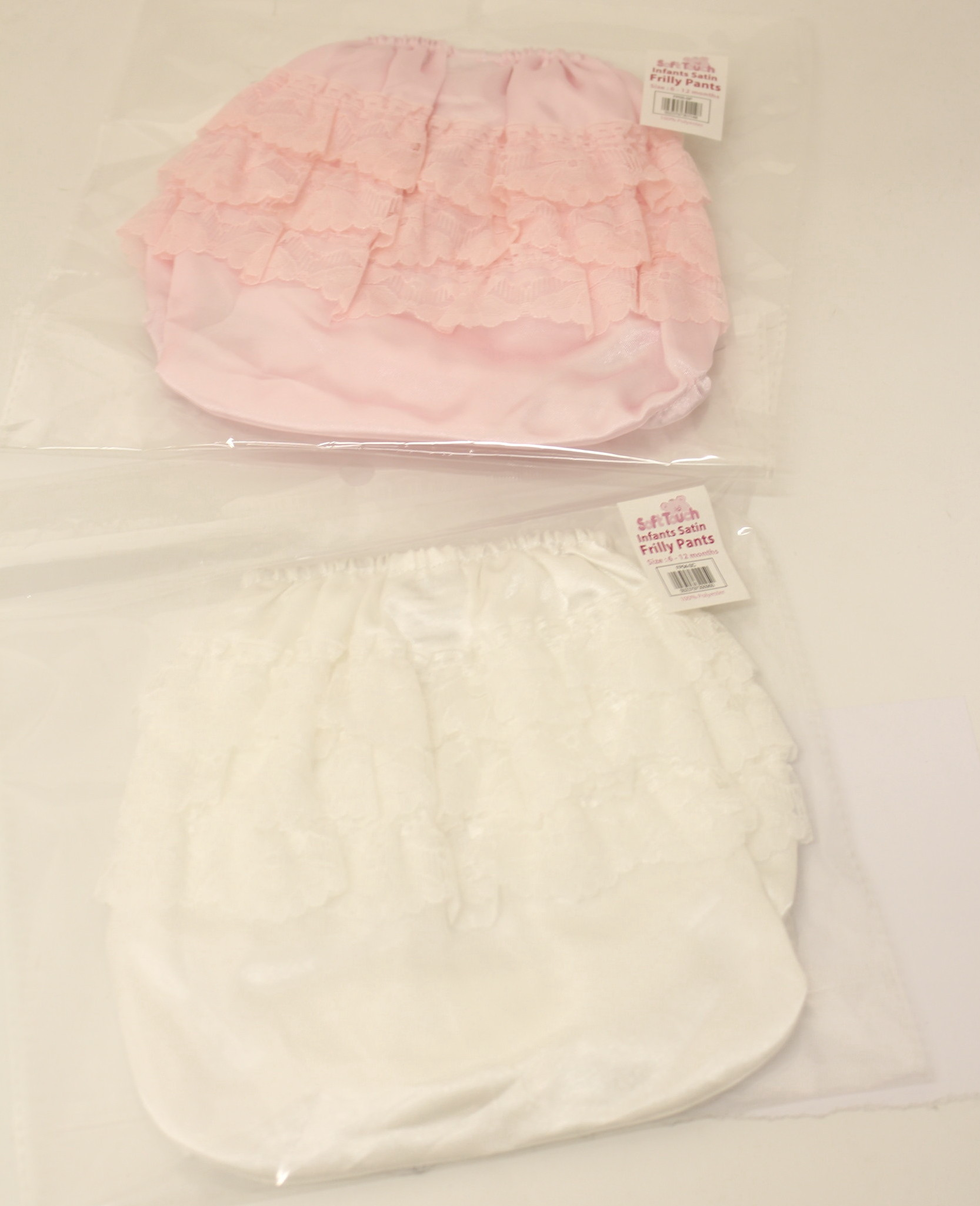 Baby Girls Frilly Lined Trainer Pants