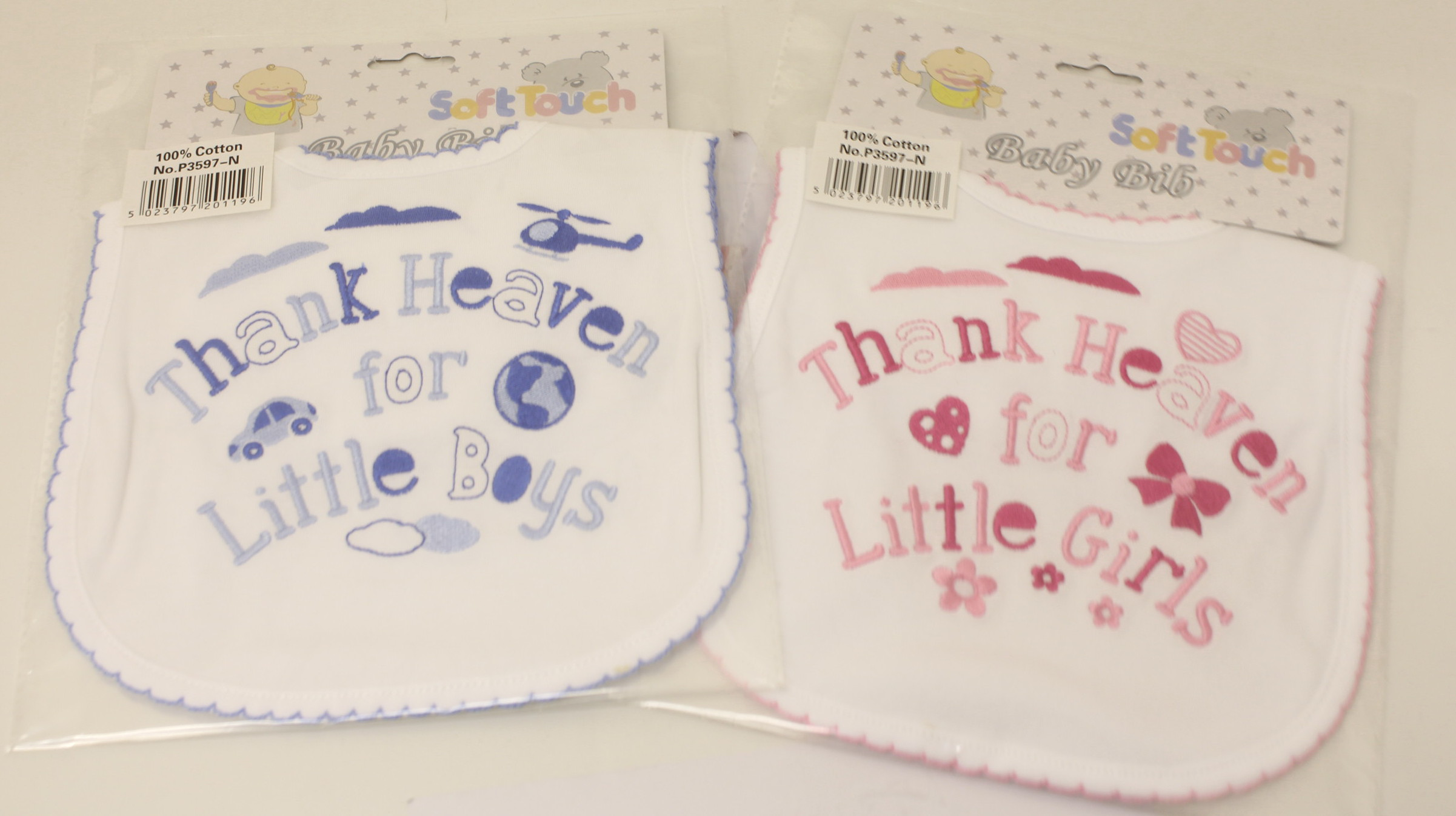 Baby Assorted Bibs Pink And Blue