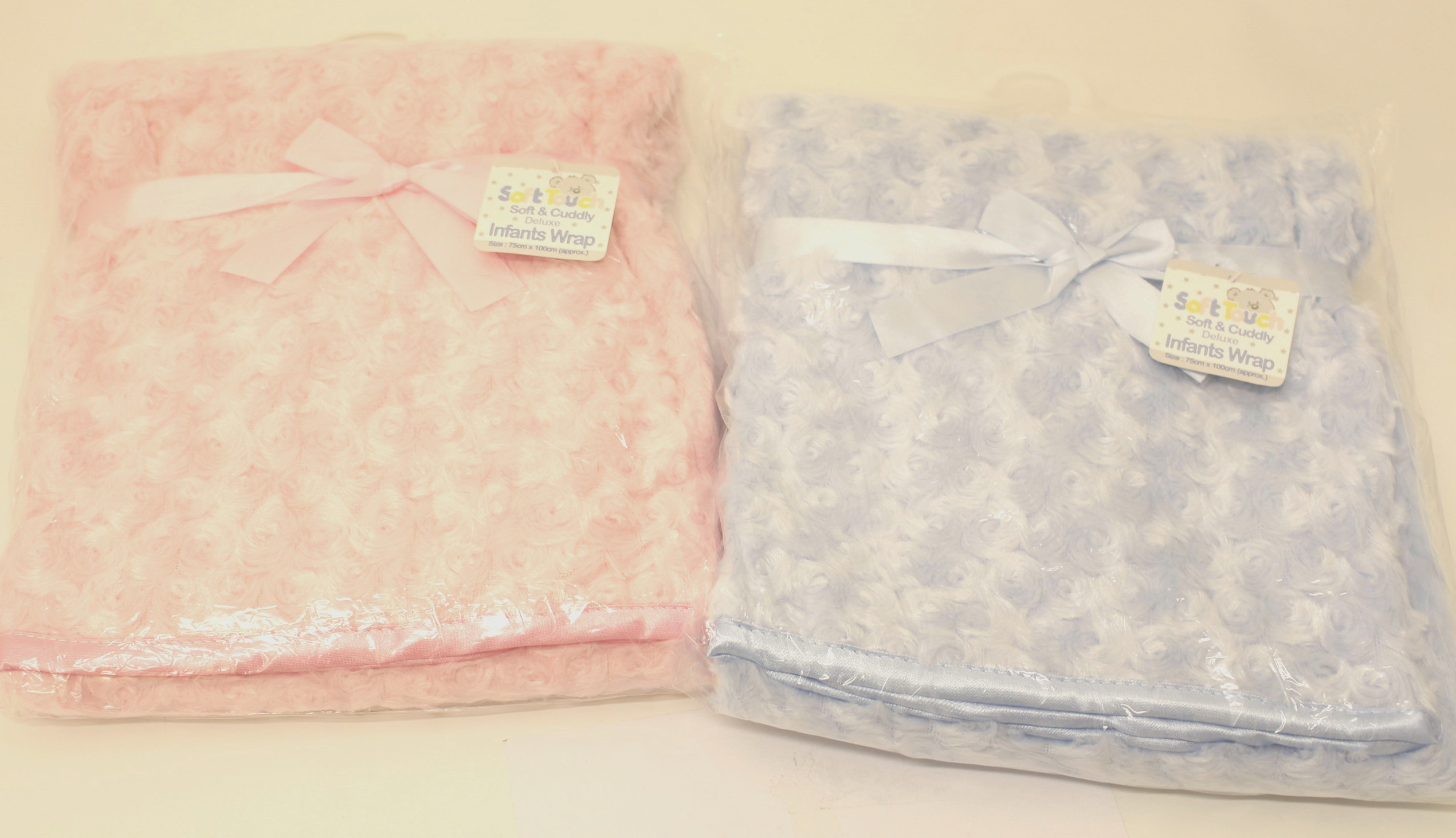 Baby Rose Fleece Wrap