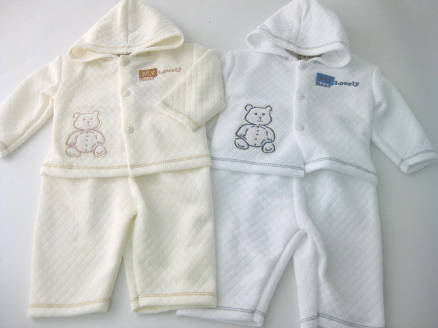 Baby Hooded Top And Trouser Set With Applique