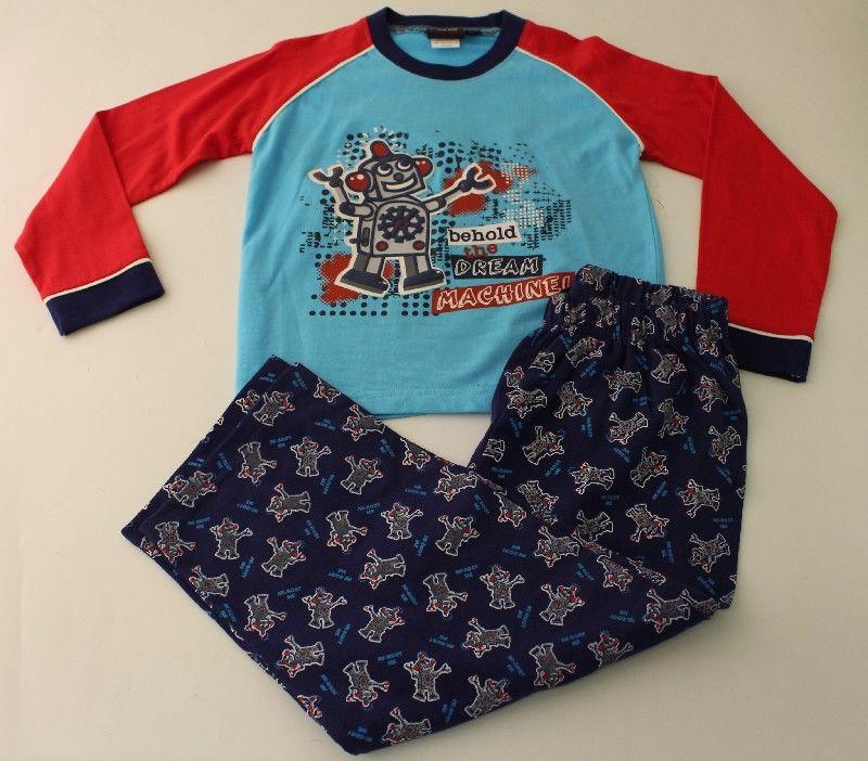 Boys Robot Print Pyjamas