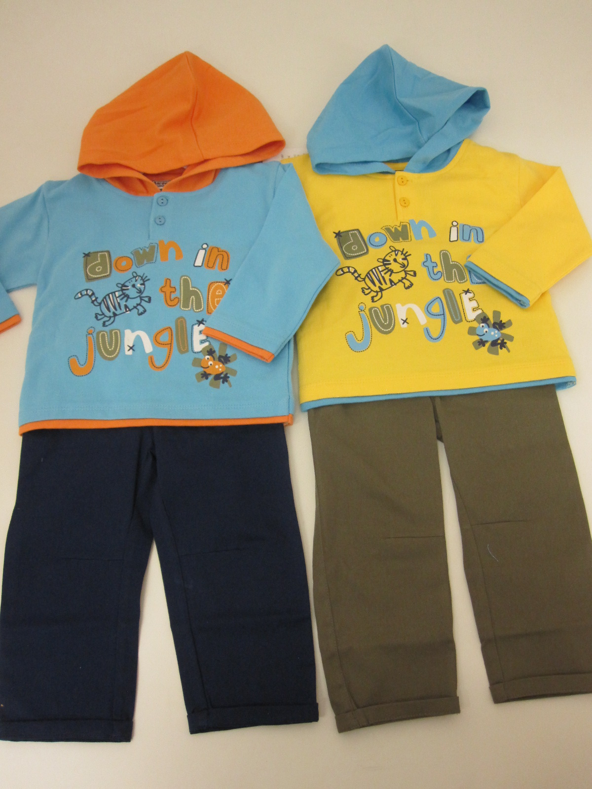 Baby Boys Hooded French Terry Top And Trouser Set Jungle