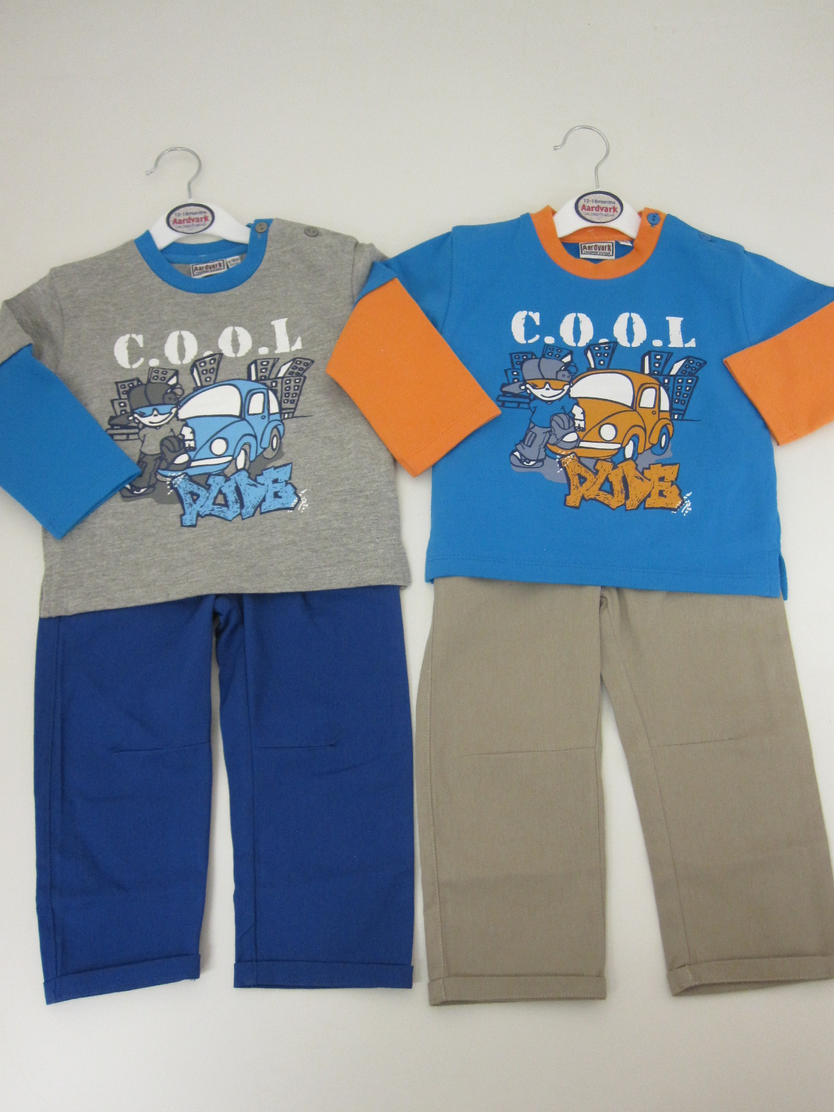 Baby Boys French Terry Top And Trouser Set Cool Dude