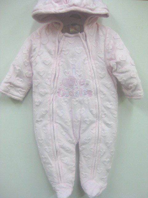 Girls Snowsuit Bubble Velour