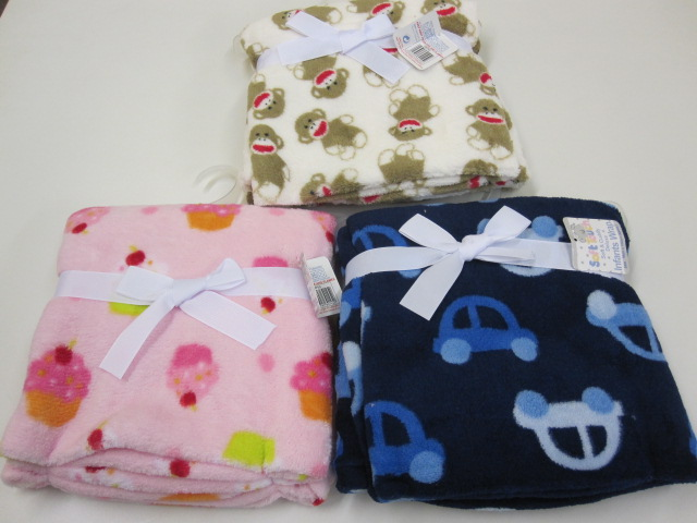 Baby All Over Print Fleece Wraps Assortment