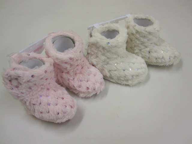 Baby Furry Glitter Boots