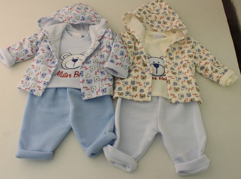Baby All Over Print Jacket Top And Trouser Set Teddy