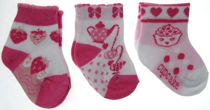 Baby Assorted Socks Fruit Cake Design