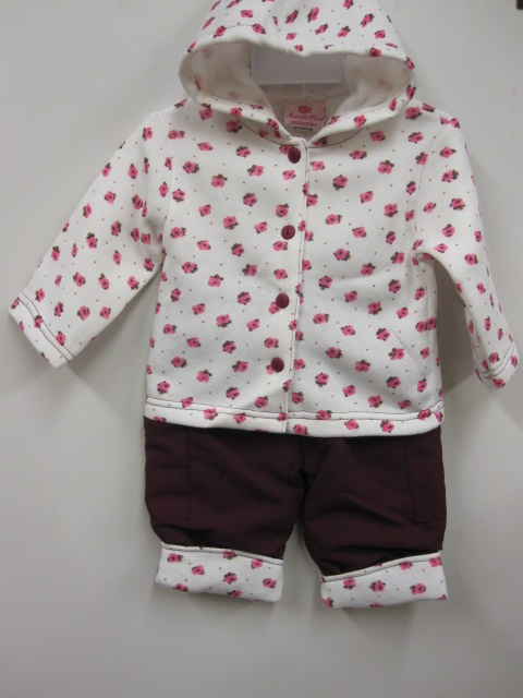 Baby Girls Hooded Padded Set