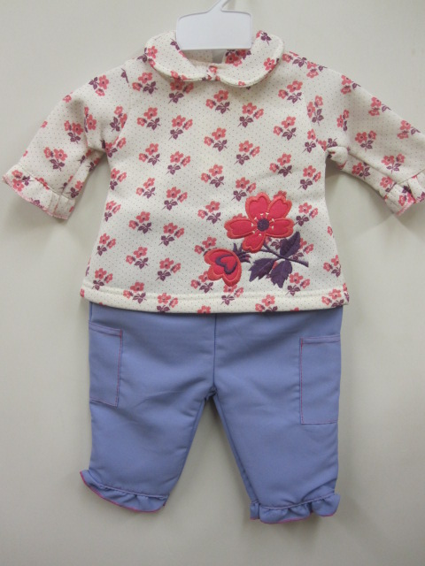 Baby Girls Winter 2pc Set Flower Top