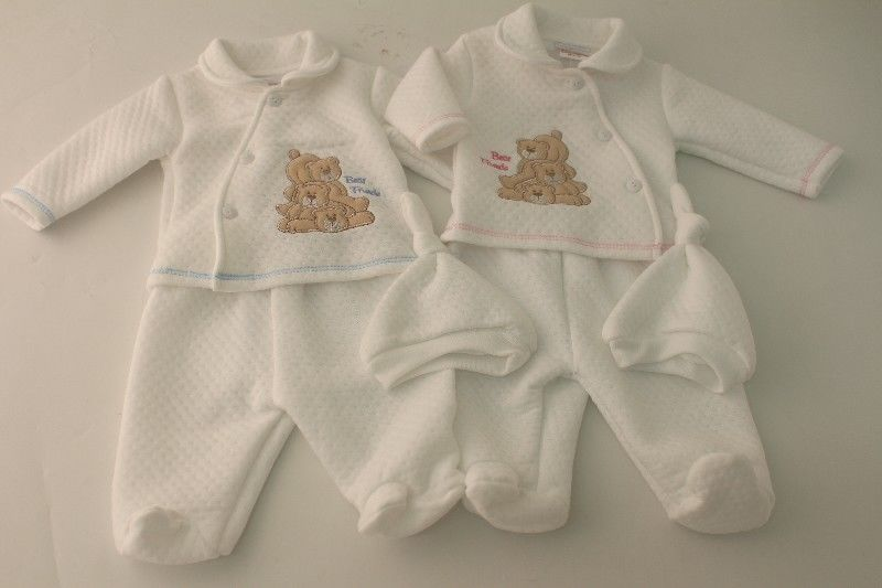 Baby 3pc Sandwich Top Trouser Cap
