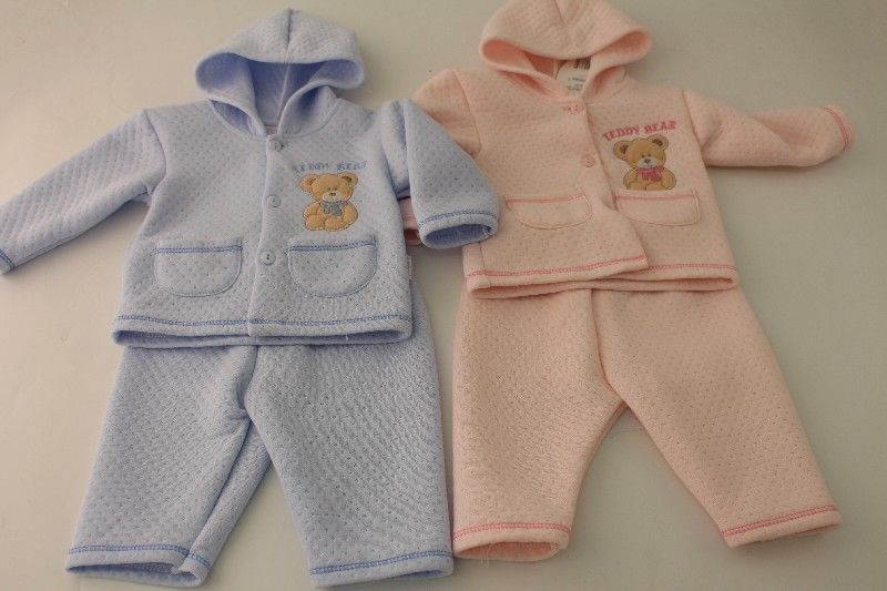 Baby 2pc Hooded Quilted Jogset
