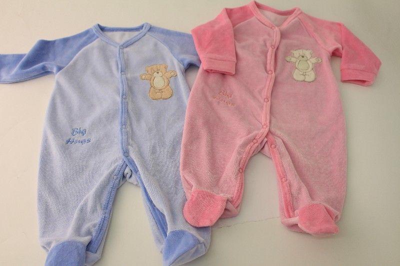 Baby Soft Velour Sleepsuit - Big Hug