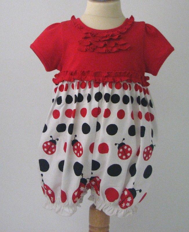 Ladybird Ruffle Romper