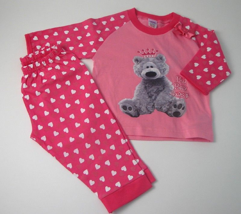 Baby Girls Pyjama Bear