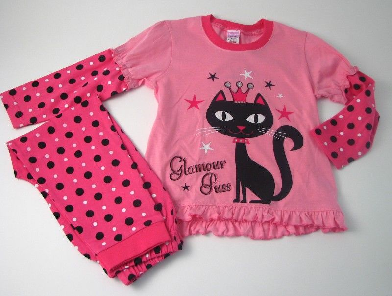 Girls Glamour Puss Pyjamas