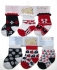 Baby Assorted Design Red Navy Socks