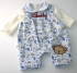 Baby All Over Print Dungaree And Top, Cheeky