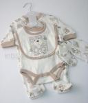 Baby 5pc Gift Set Ecrue Little Ted