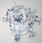 Baby 5pc Gift Set Blue Pup