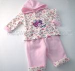 Baby Girls All Over Printed Hooded Top And Trouser Set