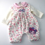 Baby Girls All Over Print Dungaree And Top