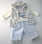 Baby Boys 3pc Set With Gillet Baby Zoo