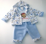 Baby Boys 3pc Set With Hooded Jacket King Of The Jungle