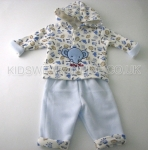 Baby Boys Hooded Top And Trouser Set Baby Zoo