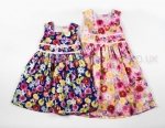 Girls Floral Dress With Double Bow