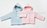 Baby Double Knit Hooded Jacket With Toggles