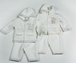 Quilted Jacquard Hooded Top And Trouser Set Little Star
