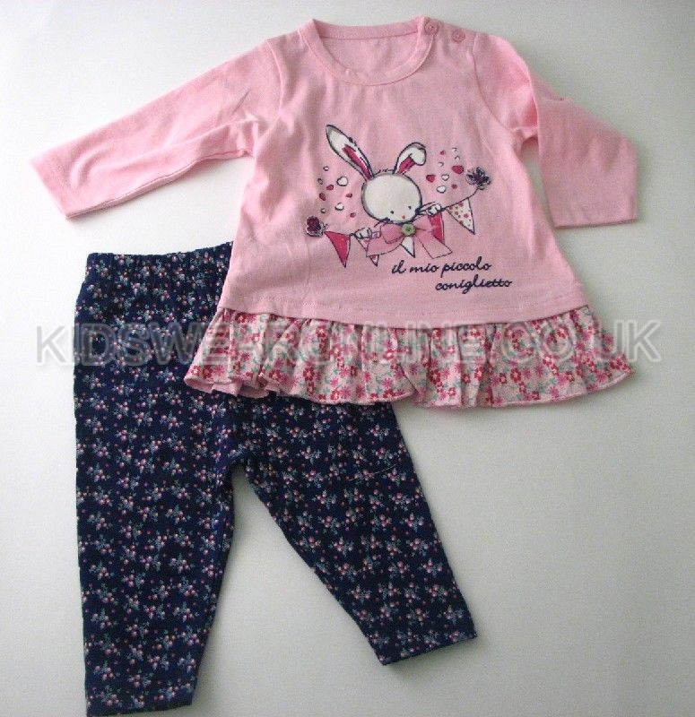 Baby Girls Legging Set 3d Bow