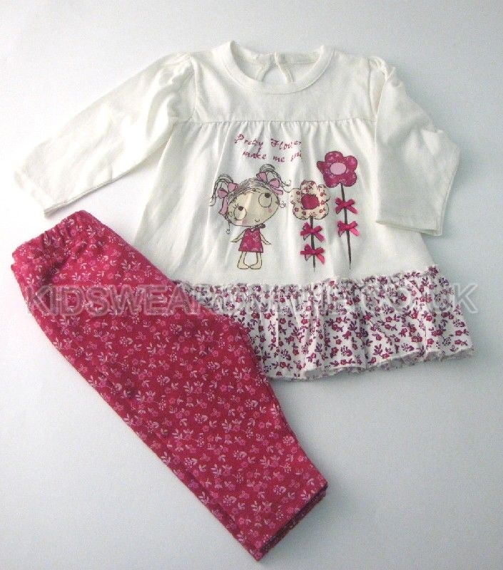 Baby Girls Legging Set Pretty Flowers
