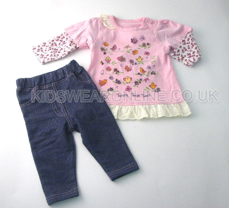 Baby Girls Tunic And Jegging Set Garden