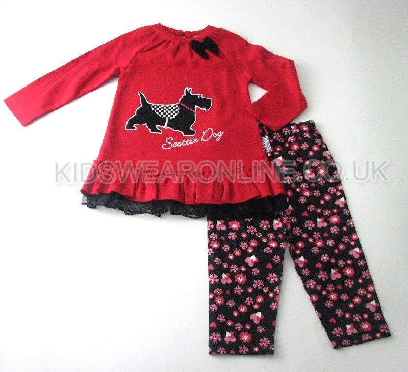 Baby Girls Tunic And Legging Set Scottie Dog