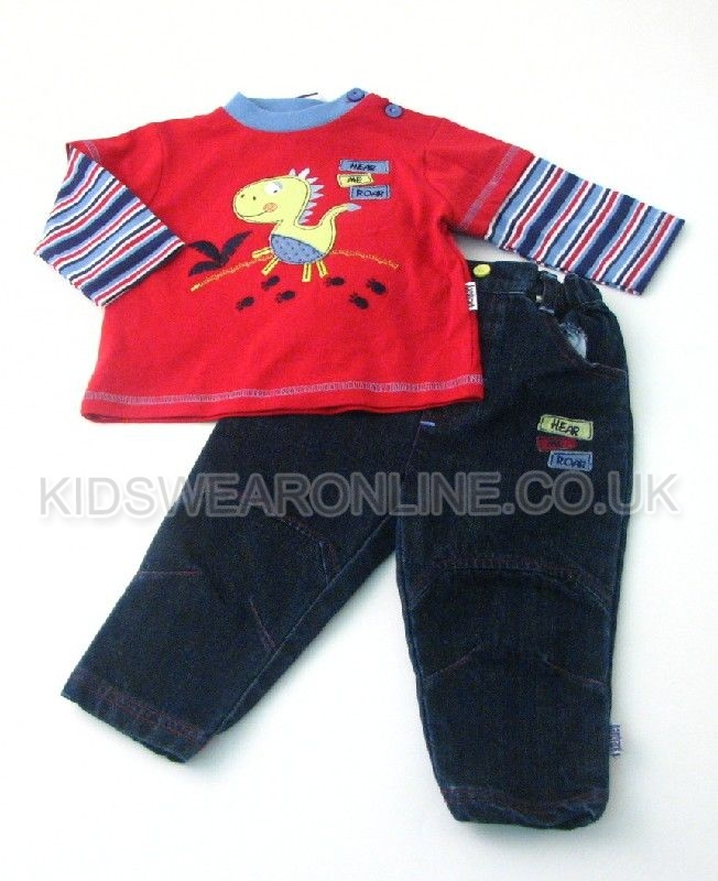Baby Boys Top And Jeans Set Dino