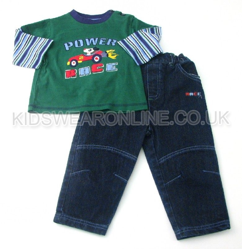 Baby Boys Top And Jeans Set Power Race