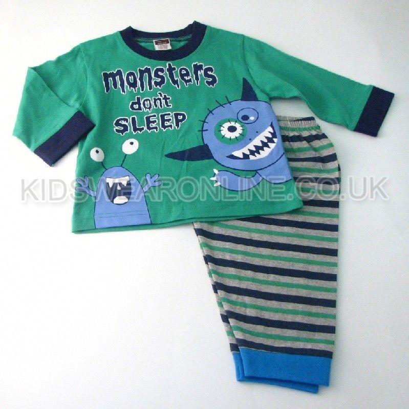 Baby Boys Pyjamas Monsters Don't Sleep